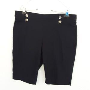 89th & Madison Jet Black Shorts Size XL